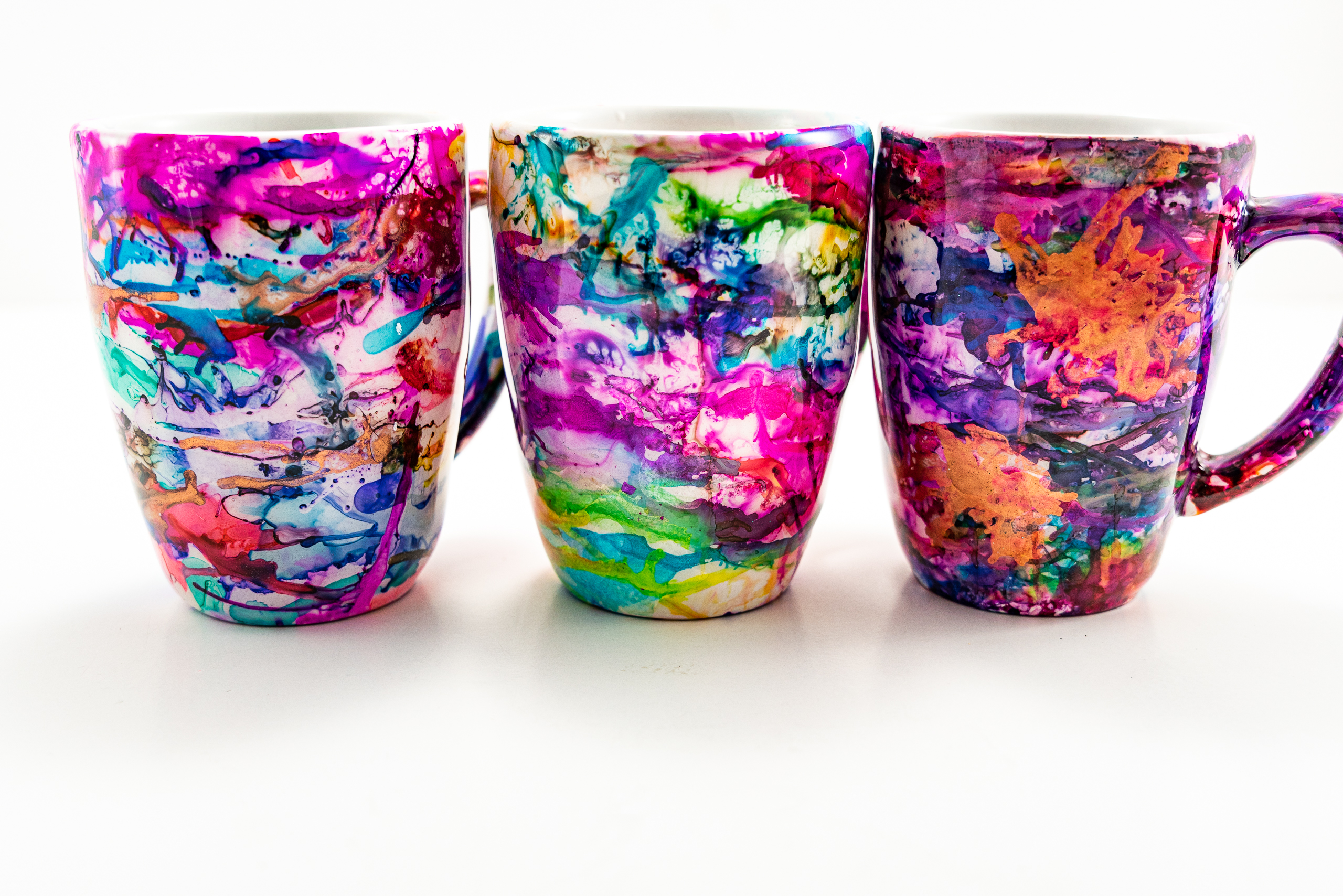 Alcohol Ink Coffee Cup To Add A Splash Of Color To Your Mornings Craft Buggy